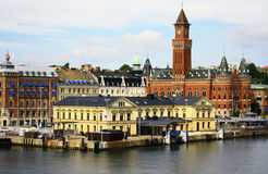 Helsingborg. View of the City Hall Helsingborg in Sweden Stock Images