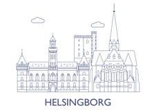 Helsingborg As construções as mais famosas da cidade Imagens de Stock