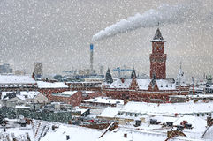 Helsingborg Cityscape in Winter Weather Stock Photo