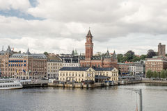 Helsingborg hamn Fotografering för Bildbyråer