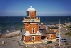 Helsingborg lighthouse Stock Photo