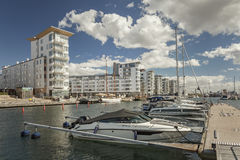 Helsingborg marina luxury apartments Stock Photography