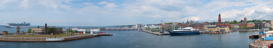 Helsingborg Panorama 01 Royalty Free Stock Photography