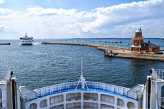 Helsingborg Passenger Ferries. An image of a passenger ferry commuting between Helsinborg in Sweden and Helsingor in Denmark Royalty Free Stock Photo
