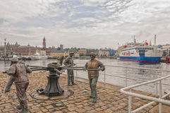 Helsingborg Sailors Monument Royalty Free Stock Images