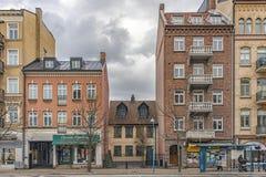 Helsingborg Squashed House Royalty Free Stock Photos