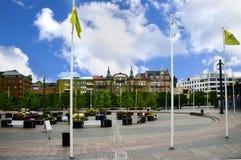 Helsingborg Sweden. A public square in Helsingborg Sweden stock images