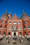 Helsingborg in Sweden: (town hall). Scenes from Helsingborg in Sweden in the Skane area on the oresunds chanel facing Denmark stock photo