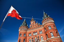 Helsingborg in Sweden: (town hall). Scenes from Helsingborg in Sweden in the Skane area on the oresunds chanel facing Denmark stock images