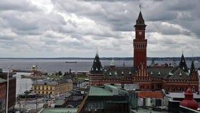Helsingborg Town Hall stock video footage