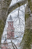 Helsingborg Town Hall Snowing Royalty Free Stock Images