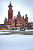 Helsingborg Town Hall in Winter Royalty Free Stock Photo