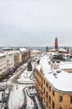 Helsingborg Winter Weather Stock Photo