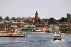Helsingborg, Zweden - Haven Stock Foto's
