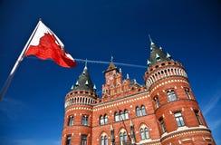 Helsingborg in Zweden: (stadhuis) stock afbeeldingen