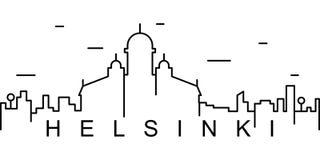 Helsingfors översiktssymbol Kan användas för rengöringsduken, logoen, den mobila appen, UI, UX stock illustrationer