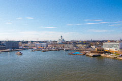 Helsingfors Cityscape Royaltyfria Foton