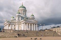 Helsingfors domkyrka på senatfyrkanten helsinki finland fotografering för bildbyråer