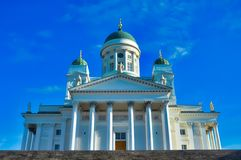 Helsingfors domkyrka, slut upp, Finland Arkivfoto