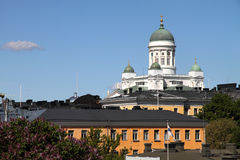 Helsingfors Finland, Europa (den Helsingfors domkyrkan) royaltyfri fotografi