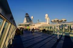 Helsingfors Finland, folk på färjan Silja Line Fotografering för Bildbyråer
