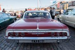 Helsingfors Finland gammal bil Chevrolet Fotografering för Bildbyråer