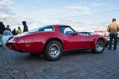 Helsingfors Finland gammal bil Chevrolet Corvette Fotografering för Bildbyråer