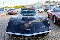 Helsingfors Finland gammal bil Chevrolet Corvette Royaltyfri Fotografi