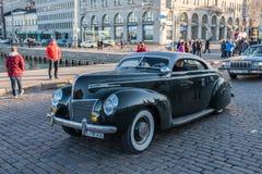 Helsingfors Finland gammal bil Mercury Royaltyfri Bild