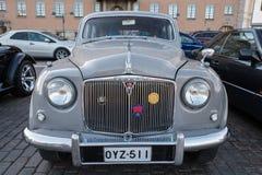 Helsingfors Finland gammal bil Rover Royaltyfri Foto