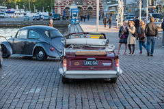 Helsingfors Finland gammal bil Triumph Herald 13/60 Royaltyfri Fotografi