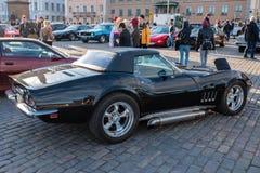 Helsingfors Finland gammal Chevrolet Corvette stingrocka Royaltyfri Bild