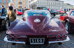 Helsingfors Finland gammal Chevrolet Corvette stingrocka Royaltyfri Fotografi