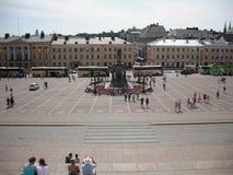 Helsingfors Finland offentlig fyrkant Arkivfoto