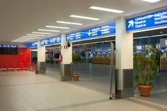 HELSINGFORS FINLAND - OKTOBER 27: terminallätthet av färjaföretaget Silja Line i Helsinkii, Finland OKTOBER 27 2016 Fotografering för Bildbyråer