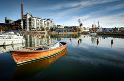 Helsingfors Hietalahti hamn arkivbild
