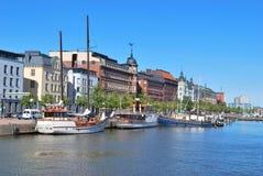 Helsingfors. Norr hamn royaltyfri foto