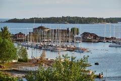 Helsingfors Segelsllskap, uma da navigação a mais velha bate fotografia de stock royalty free