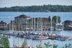 Helsingfors Segelsllskap, uno de la más vieja navegación aporrea imágenes de archivo libres de regalías