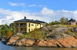 Helsingfors shoreline Fotografering för Bildbyråer