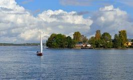 Helsingfors shoreline och öar Fotografering för Bildbyråer