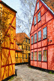 Helsingor στενή ψηφιακή ζωγραφική οδών Στοκ Φωτογραφία
