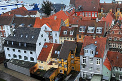Helsingor city Danish houses Stock Photos
