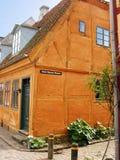 Helsingor, Denemarken - traditioneel huis Stock Fotografie