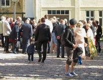 Wedding guests in Helsingor Stock Image