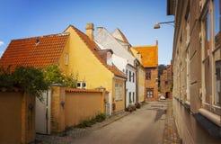 Helsingor narrow street Royalty Free Stock Photography
