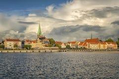 Helsingor schronienie i pejzaż miejski Obraz Royalty Free