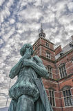 Helsingor Train Station Statue Royalty Free Stock Photo