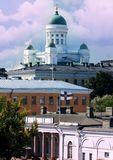 HELSINKI. Aerial view. Cathedral in , Finland Royalty Free Stock Photo