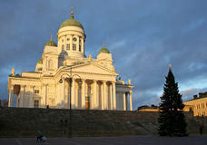 Helsinki. Cathedral at sunset Stock Photo